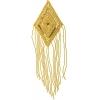 Motif Sequin/beads Diamond Gold 14x9cm 15cm Fringe